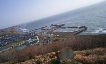 展望台から日本海